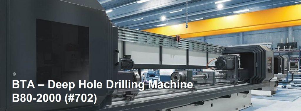 TIBO BTA Deep Hole Drilling Machine B80 2000 (#702)